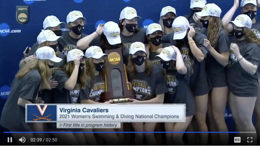 Virginia wins its first NCAA women's swimming and diving title.