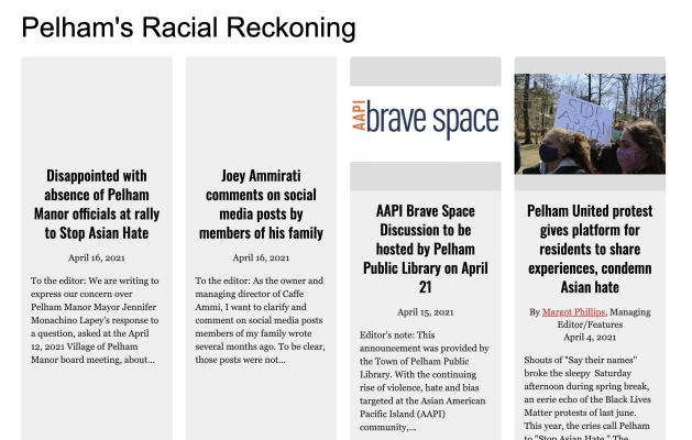 All Examiner articles on Pelham's racial reckoning available in one collection