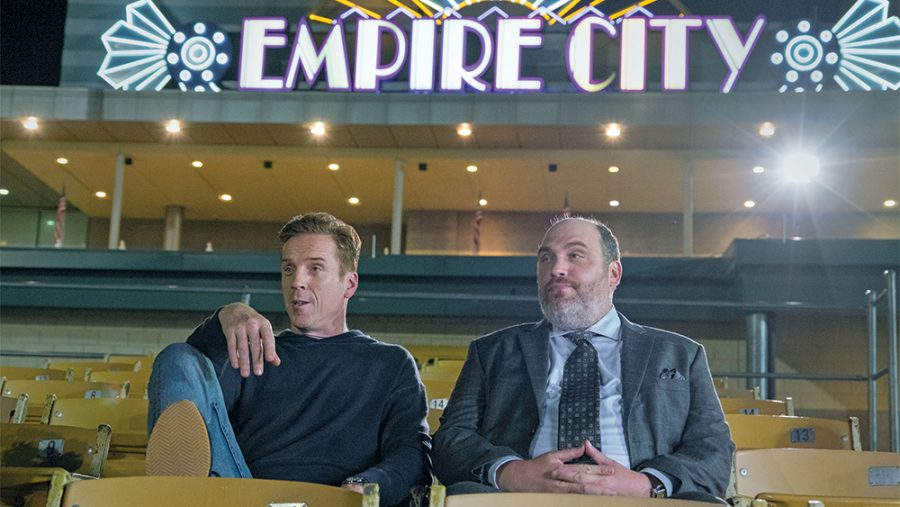 In recent years before the pandemic, TV shows and movies shot in Westchester, including Billions with Damian Lewis as Bobby Axe Axelrod and Glenn Fleschler as Orrin Bach at the Empire City Casino in Yonkers.