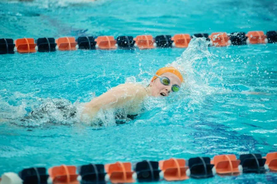 Hartigan breaks records swimming for Bucknell, makes Academic All-Patriot League Team