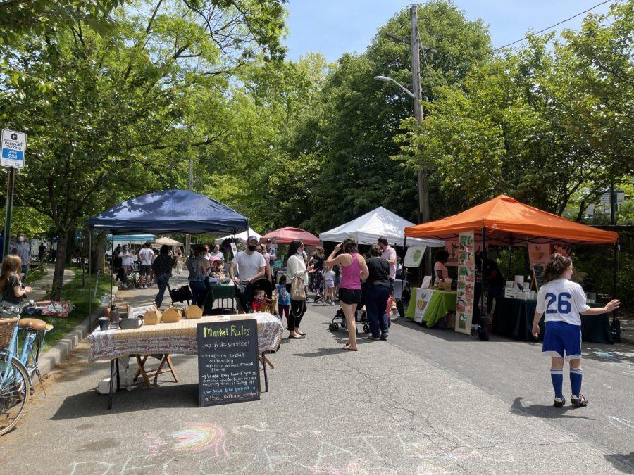 Pelham Market returns, now on Michael Schwerner Way.