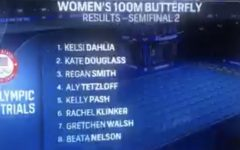 Kate Douglass comes in second in the women's second semi-final