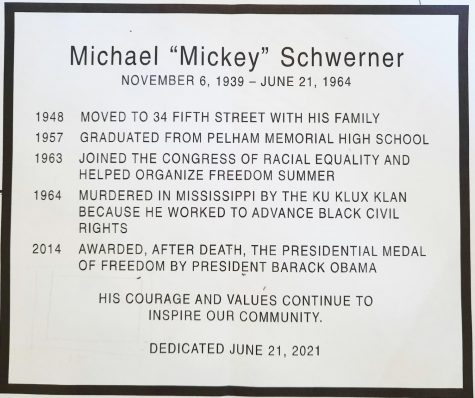 Image of wording on the plaque to be dedicated Monday.