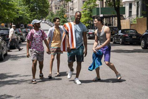 Usnavi, Benny, Sonny and Graffiti Pete in Washington Heights.