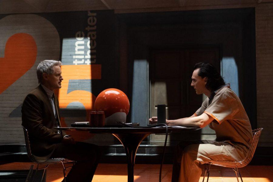 "From left, Mobius (Owen  Wilson) and Loki (Tom Hiddleston) talk it out in Marvel Studios' ""Loki"" on Disney+."