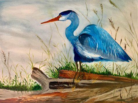 """""""Blue Heron"""" by Geri Nasser."""