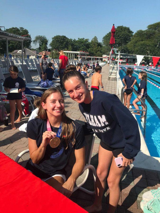 Kate Douglass is in Pelham—visiting swim teams