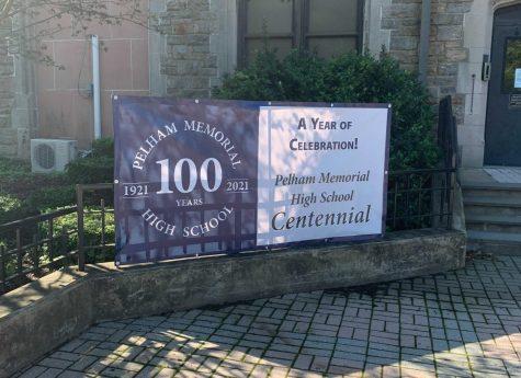 Snapshot: PMHS centennial celebrations begin, banners displayed outside building