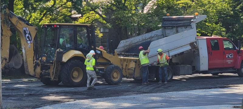 Pelhamdale Avenue is being repaved this week from Boston Post Road to Shore Road